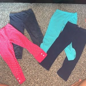 Set of 4 girls leggings, varying brands